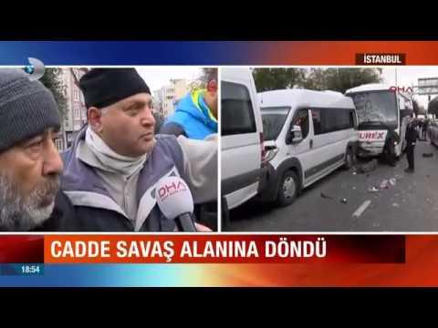 Cadde Savaş Alanına Döndü. İstanbul Fatih