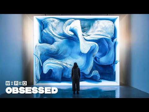 How artist Refik Anadol uses AI to create these hypnotic art installations