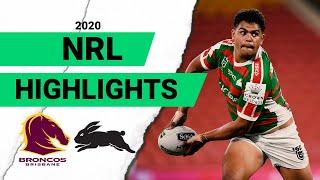Broncos v Rabbitohs Match Highlights | Round 2 NRL 2020
