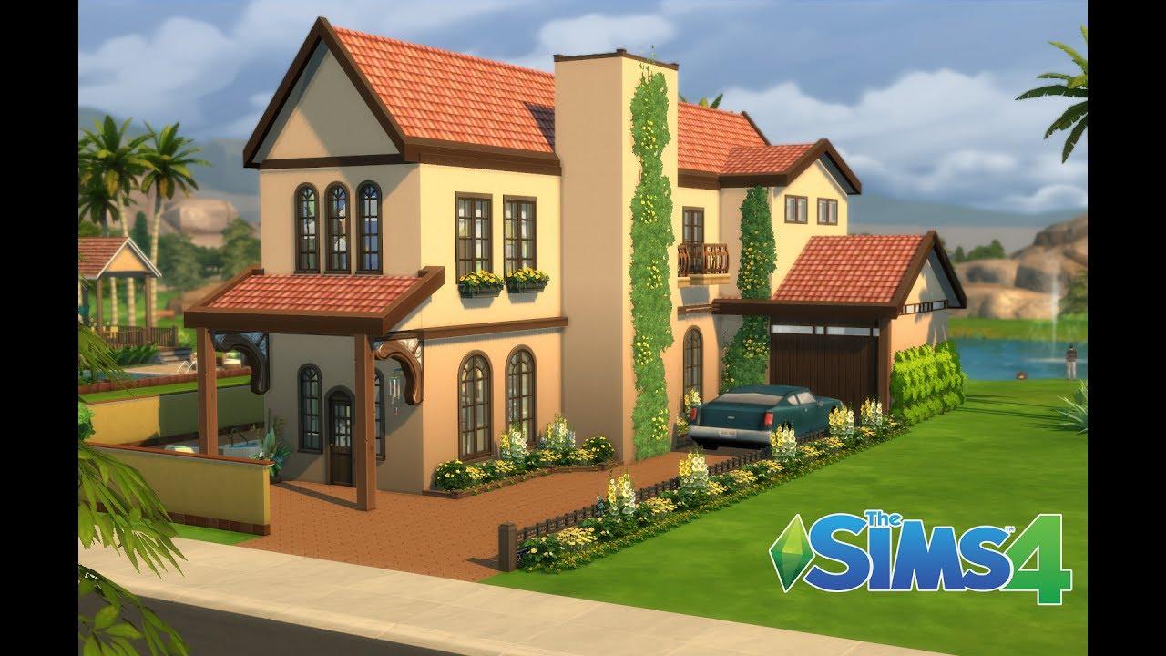 les sims 4 maison familiale sans cc construction speed build youtube. Black Bedroom Furniture Sets. Home Design Ideas
