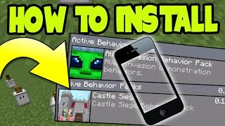 iOS ADDONS - HOW to INSTALL ADDONS and BEHAVIOR PACKS on MCPE 0.16.0 UPDATE! (iOS, iPad, iPhone)