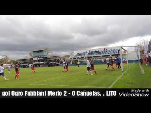 Gol del ogro Fabbiani Deportivo Merlo 2 - 0 Cañuelas