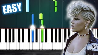 Baixar P!nk - What About Us - EASY Piano Tutorial by PlutaX