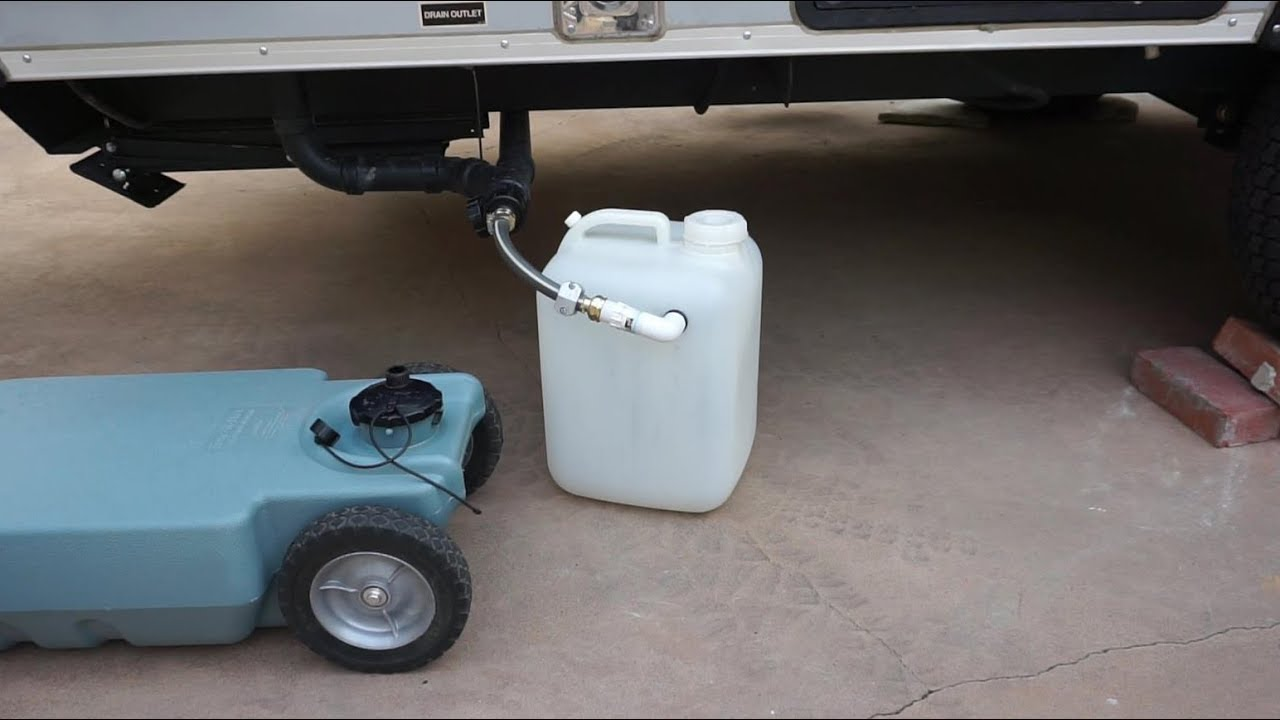 DIY Portable Gray Water Tank - For Campers