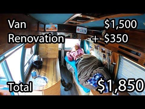 Home Made Camper Van Build - Start to Finish DIY