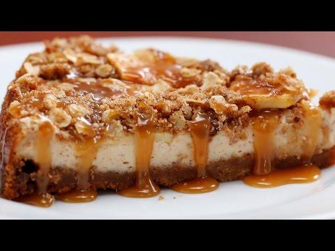 Caramel Apple Crumble Cheesecake