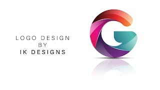 Gemaakt van 3D-logo, Letter G in adobe illustrator