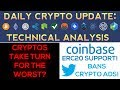 CRYPTOS Turn For The WORST + BIG Coinbase NEWS & Twitter BAN