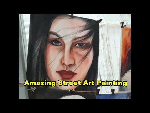 Amazing Street Art Painting pictures in kolkata ,india