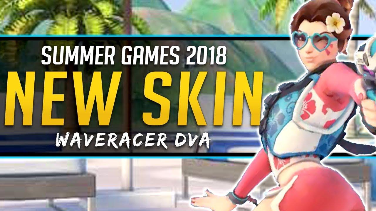 D Va Summer Games Skin