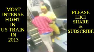 Top 5 fights in NYC Subway - Insane!!!