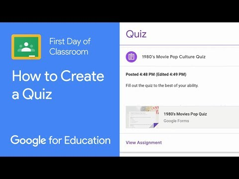 How To Create A Quiz From Classroom Youtube