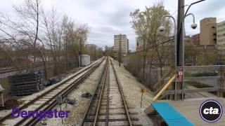 CTA Ride the Rails: Purple Line to Linden in Real Time