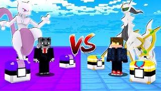 MUNDO DO ARCEUS vs MUNDO DO MEWTWO - MINECRAFT PIXELMON MOD