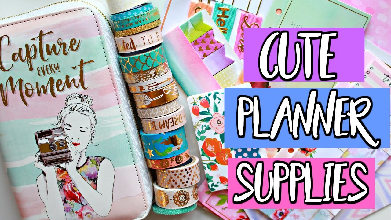 graphic relating to Planner Supplies called Adorable PLANNER Components / MICHAELS HAUL Belinda Selene