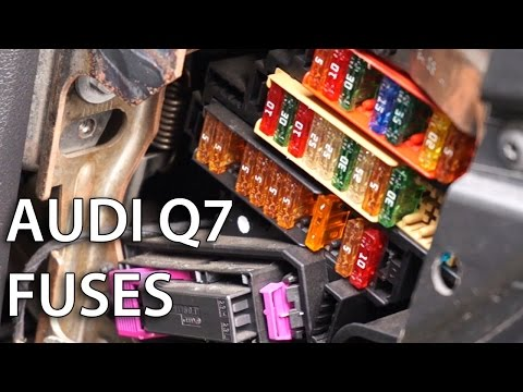 Where are electrical fuses located in Audi Q7?