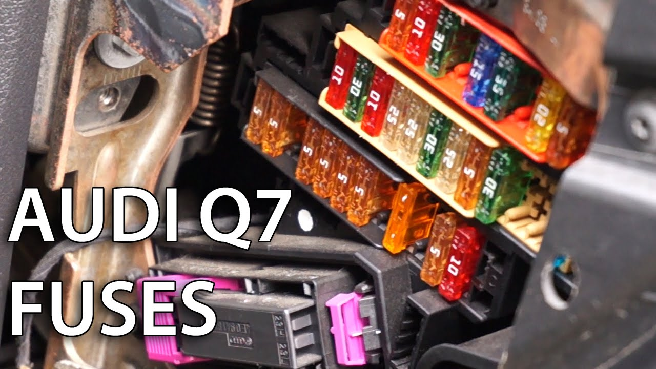 Where are electrical fuses located in Audi Q7?  YouTube