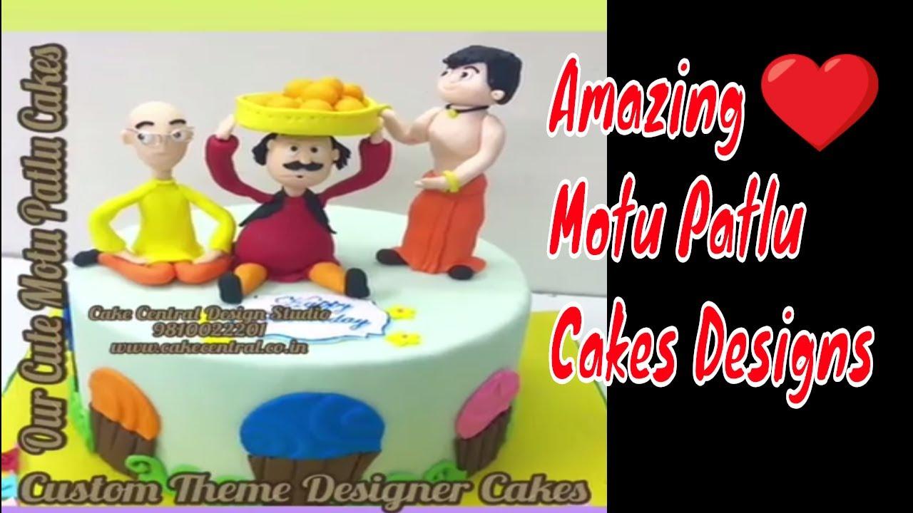 Motu Patlu Cakes Motu Patlu Birthday Cakes Delhi Youtube