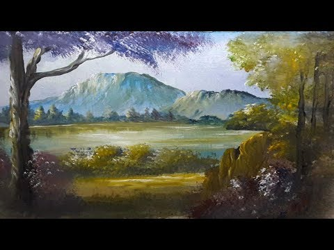 How to Draw Mountin Forest Beautiful | Painting With Watercolor | Step By Step
