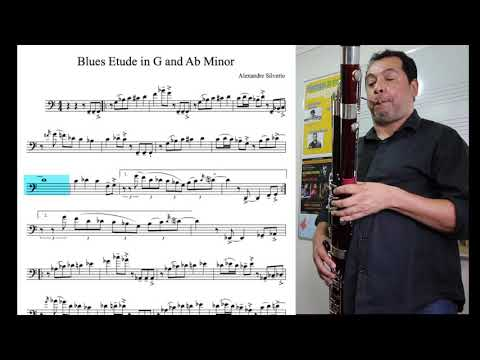 BLUES BOOK FOR BASSOON - Etude In G And Ab Minor