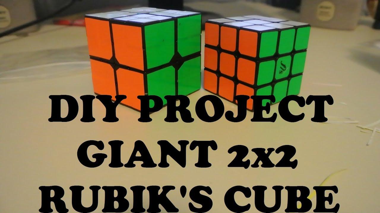 Giant 2x2 Rubik S Cube Diy Project Youtube