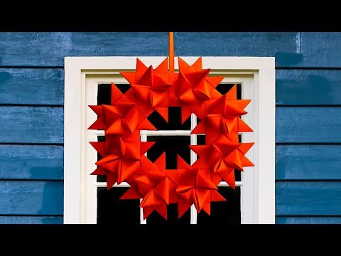 How to Make Traditional German Christmas Paper Star by Easy Steps - DIY simple paper craft
