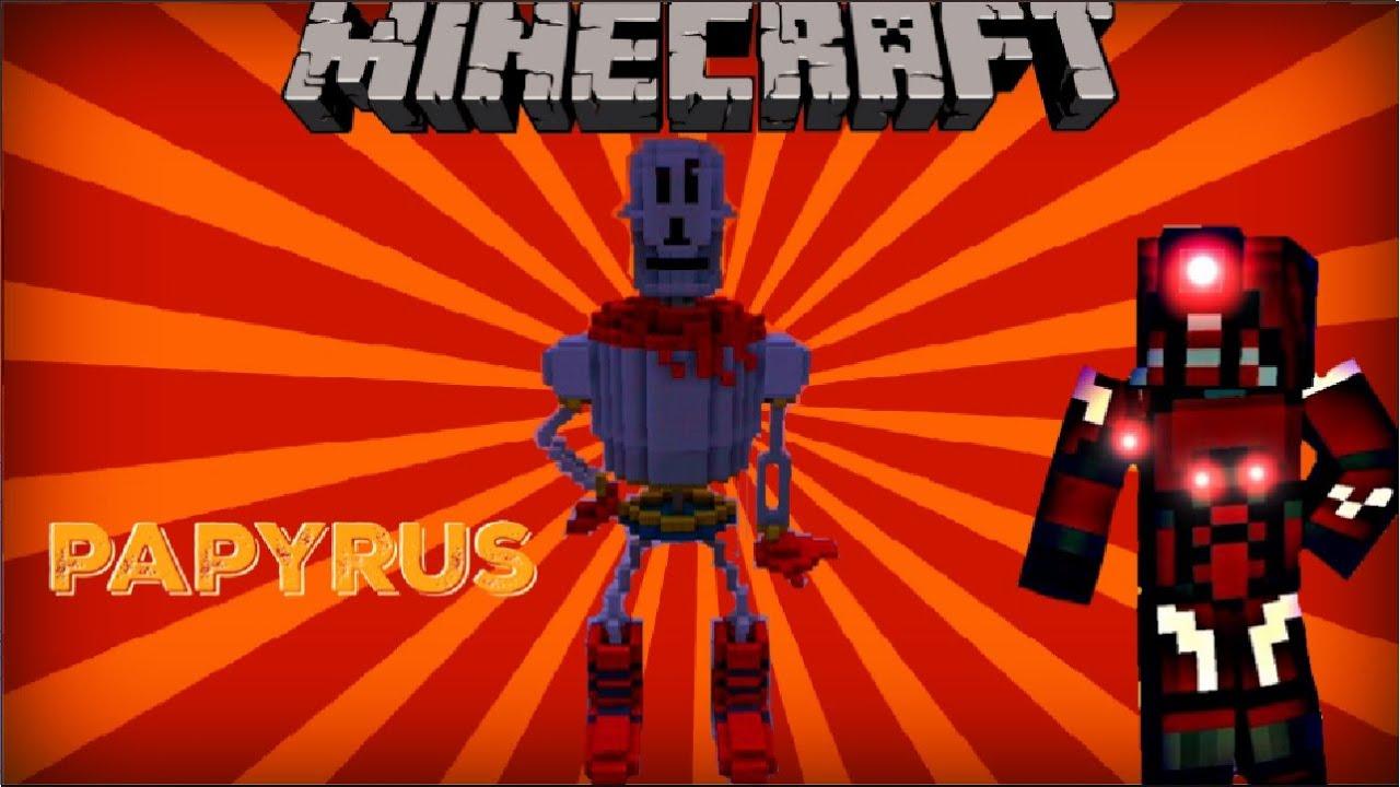 minecraft xbox 360 undertale papyrus youtube