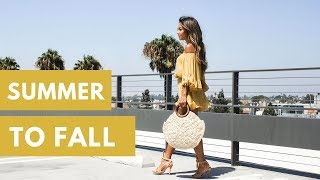 Transition Outfits | How to Transition your Summer Clothes into Fall