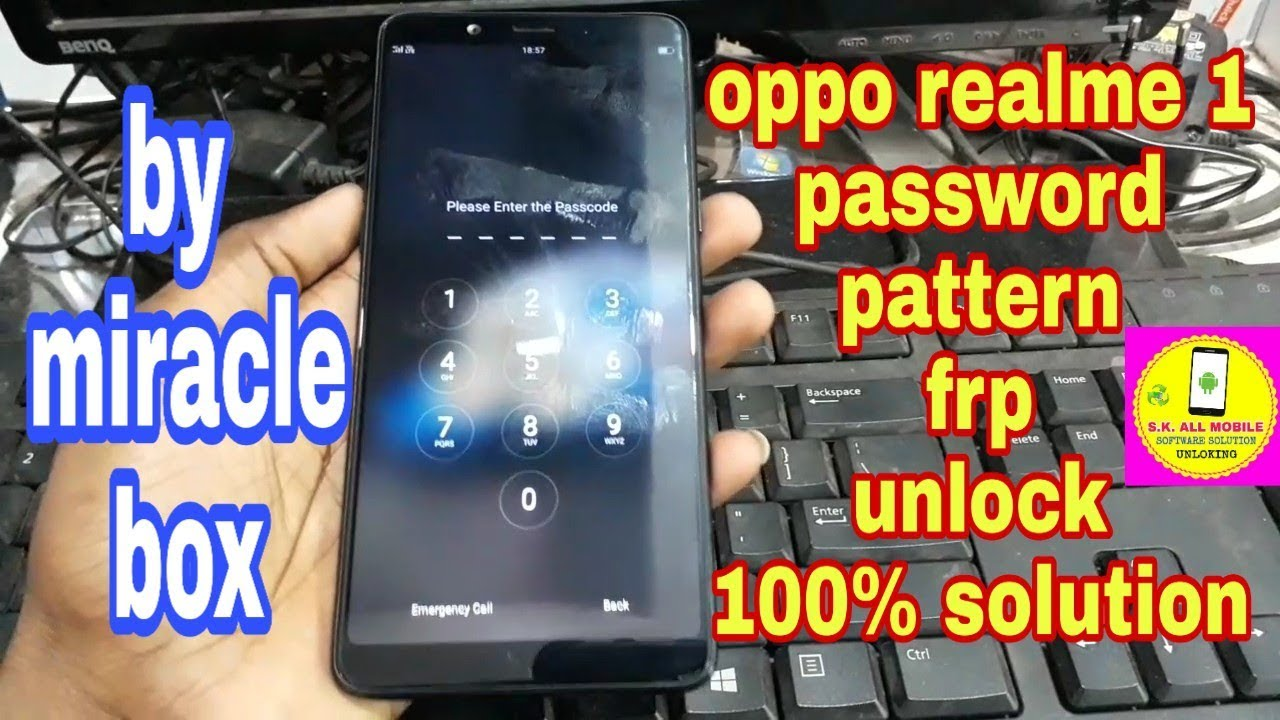 oppo Realme 1 pattern, password, frp unlock by miracle box 👉100% solution👈