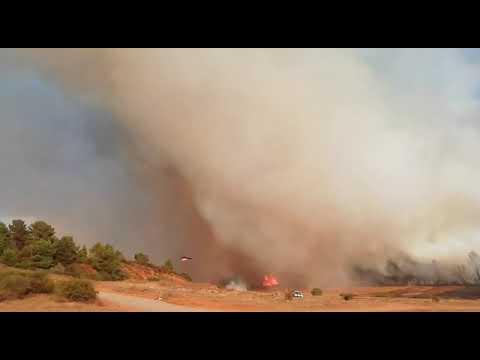 Incendio entre Palacios de Rueda y Villapadierna