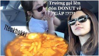 Nhật ký làm mẹ: Trường gọi lên đón DONUT về GẤP!!! ✿ Làm Bánh Gạo Cay Hàn Quốc Tteokbokki ❁ Vlog#4