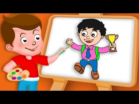 Drawing School Boy Drawing Paint And Colouring For Kids | Kids Drawing TV