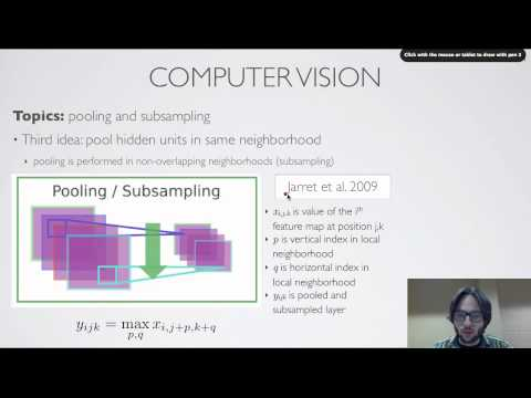 Neural networks [9.5] : Computer vision - pooling and subsampling