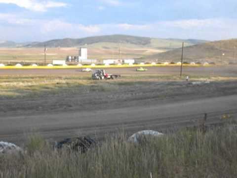 Hayden Speedway Mini Stock Heat #2 - 8/9/14
