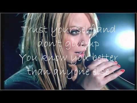 Hilary Duff Fly withc lyrics