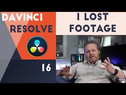 I lost footage - How I recover and backup - Davinci Resolve 16