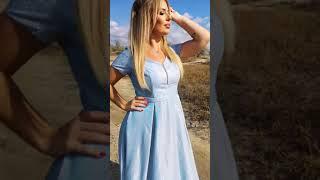 G 2283 AB1 Платье вечернее из люриксового трикотажа video