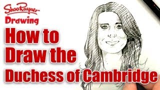How to draw Catherine, Duchess of Cambridge - Spoken Tutorial