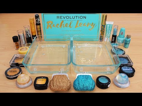 Teal vs Gold - Mixing Makeup Eyeshadow Into Slime Special Series 235 Satisfying Slime Video