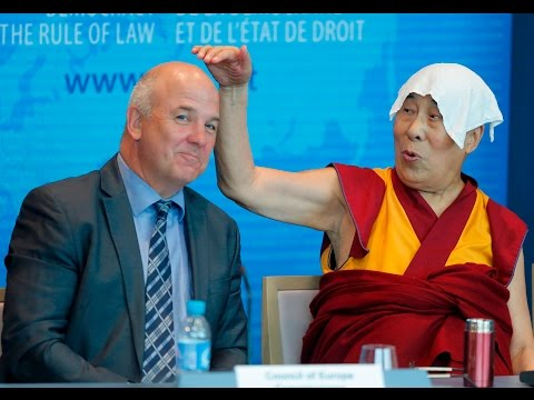 Best moments from Dalai Lama's press conf. at Council of Europe