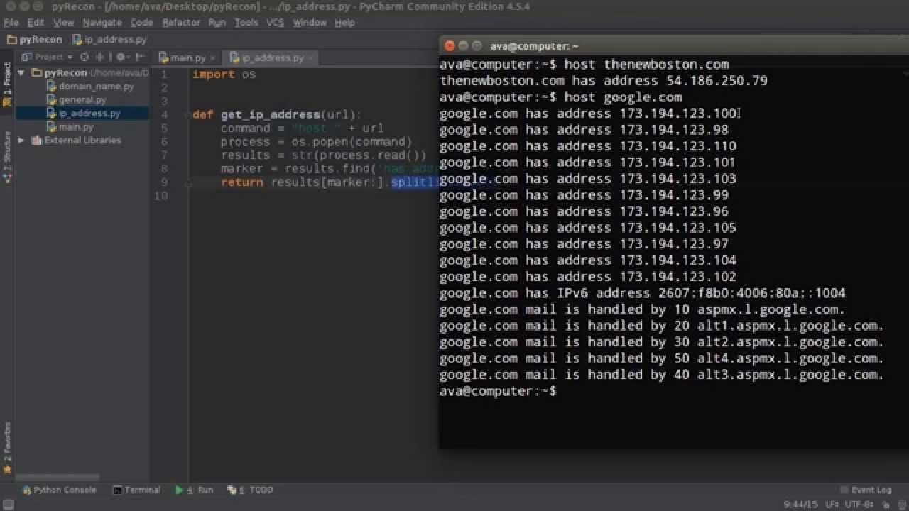 Python Website Scanner Tutorial - 3 - IP Address