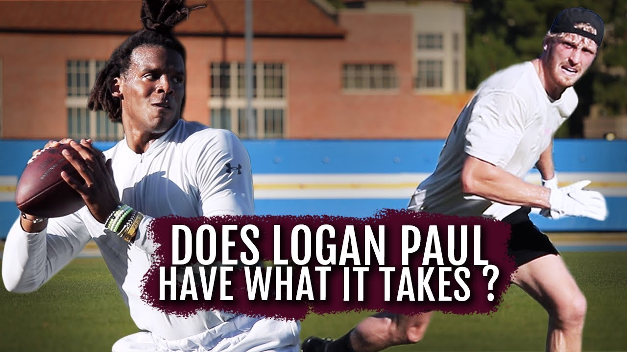 Does@Logan Paul Have What It Takes To Be An NFL Receiver? | Cam Newton Vlogs
