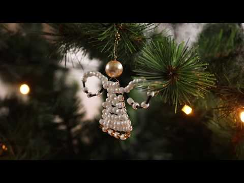 Handmade jewellery: Making angels with Artistic Wire and beads ♡ DIY