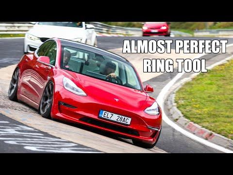 MODIFIED Tesla Model 3 (& Scared Passenger) on the Nürburgring