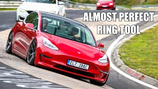 MODIFIED Tesla Model 3 (& Scared Passenger) on the Nürburgring