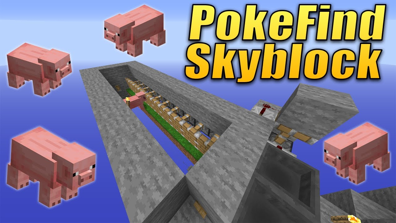 HOW TO MAKE A MASS PIGGY GENOCIDE FARM - PokeFind Skyblock Ep  12