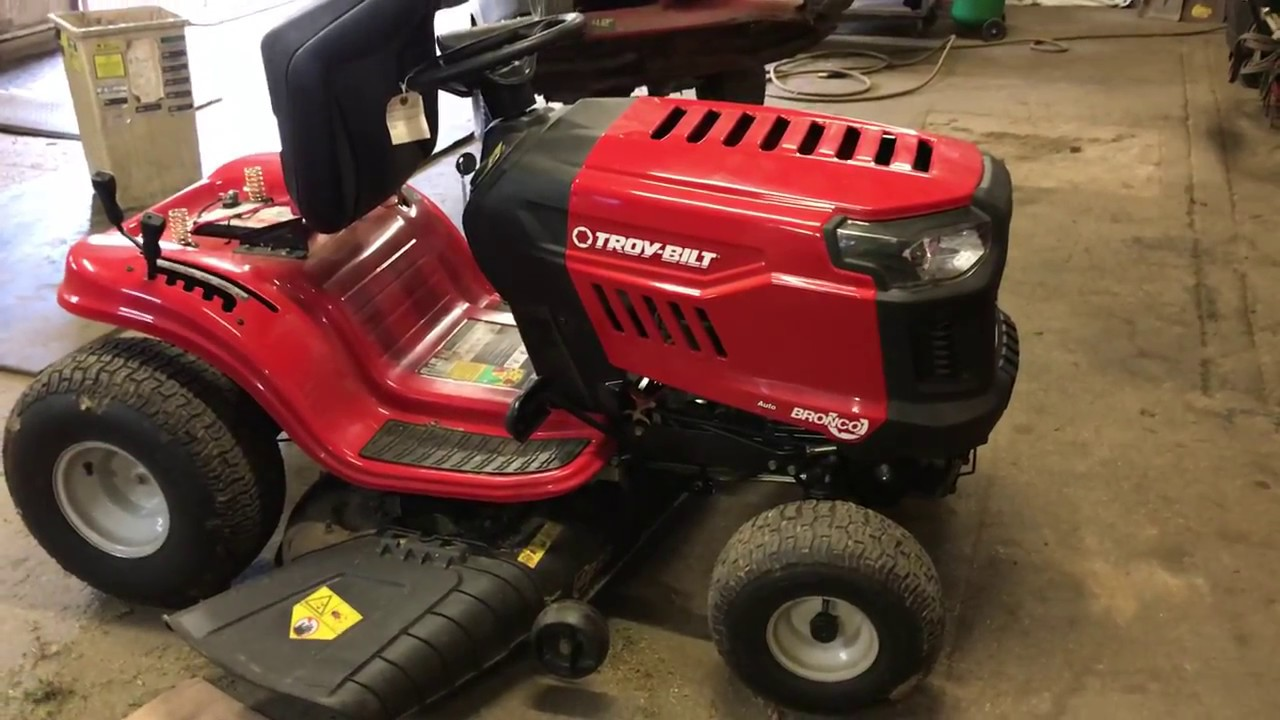 How To Remove A Troy Bilt Bronco Mower Deck Youtube