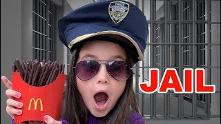 Magic McDonald's Police! chocolate French Fries and Jail
