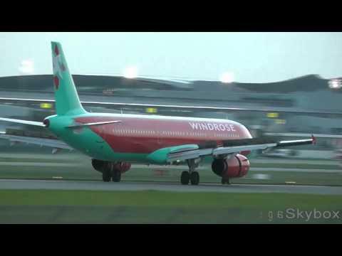 WindRose Airbus A321-231 (UR-WRI) landing at Borispol - Kiev - (UKBB / KBP)