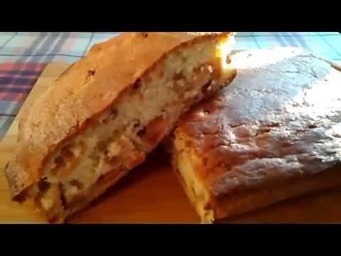Пирог сладкий с сухими яблоками на масле.. Очень вкусный! Рецепт читайте ниже, под видео #пироги